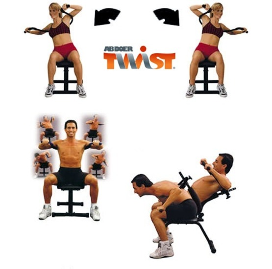 Fat Burn /& Fitness Training Abdominal Machine for ABS Exircise Ab Doer Twist